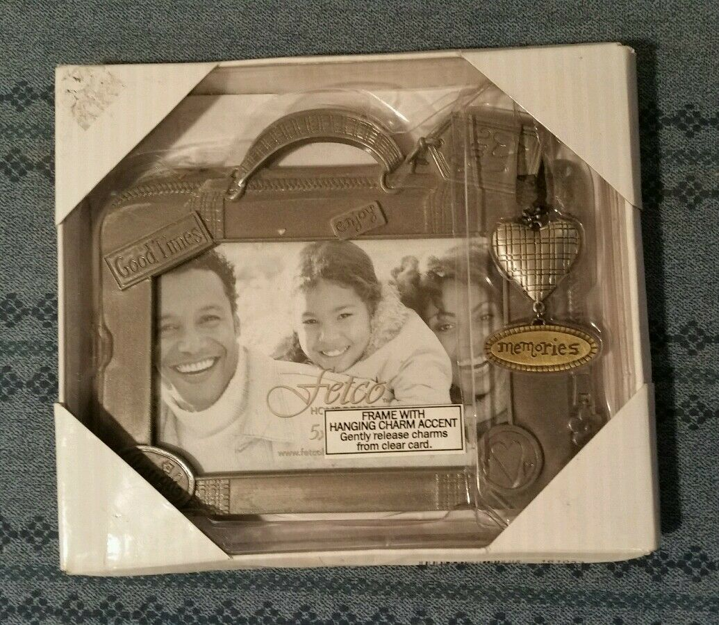 FETCO Picture Frame With Hanging Charm 3.5 X 5 | eBay
