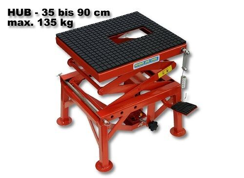 Motorcycle Workbench Hydraulic Lift Bike Atv Stand Jack Table