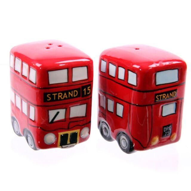 Red Routemaster Bus Salt & Pepper London Ceramic