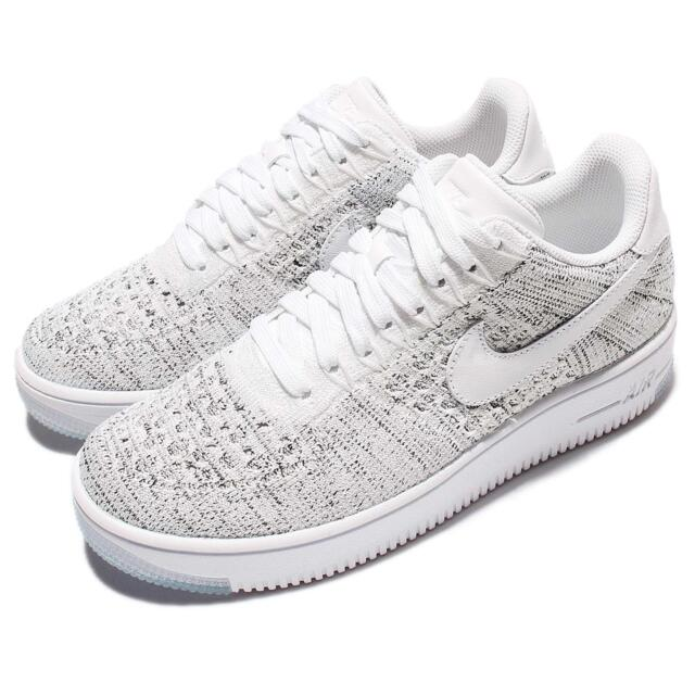 buy online c460b 554dc ... clearance wmns nike af1 flyknit low white grey women classic air force  1 shoes 820256 103