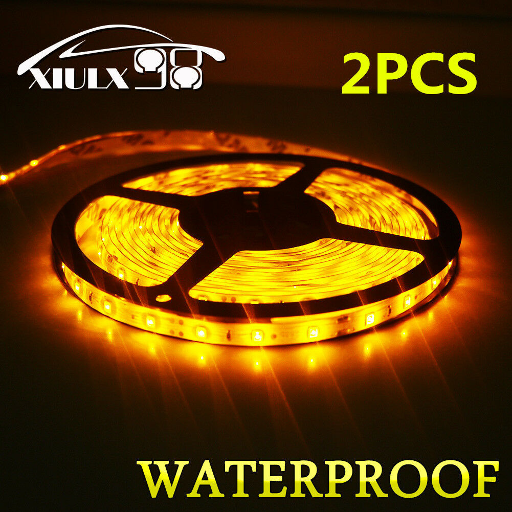2x waterproof ip65 amber 5m roll 16ft 3528 smd led 300 leds flexible picture 1 of 10 aloadofball Gallery