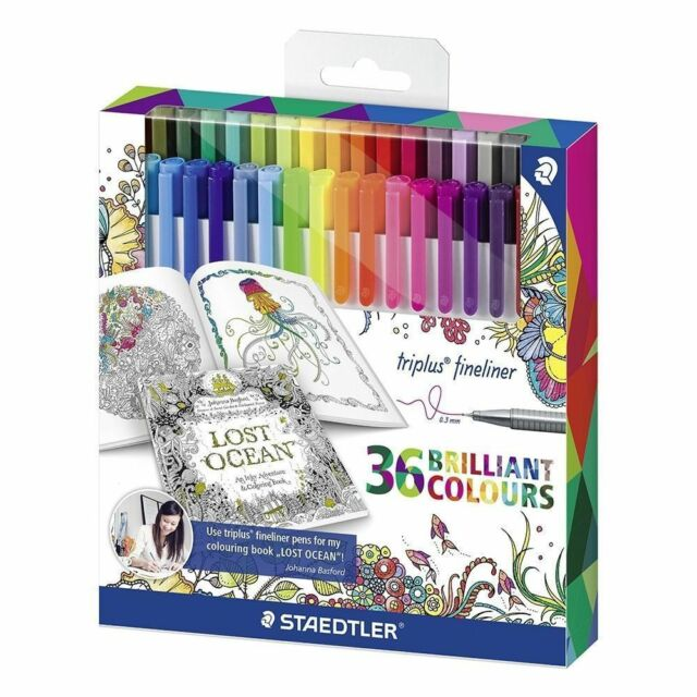 STAEDTLER Triplus Fineliners 36 Brilliant Colours