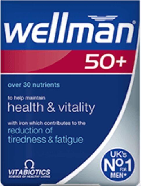 Vitabiotics Wellman 50+  New- 30 Tablets- Advanced micronutrient formula