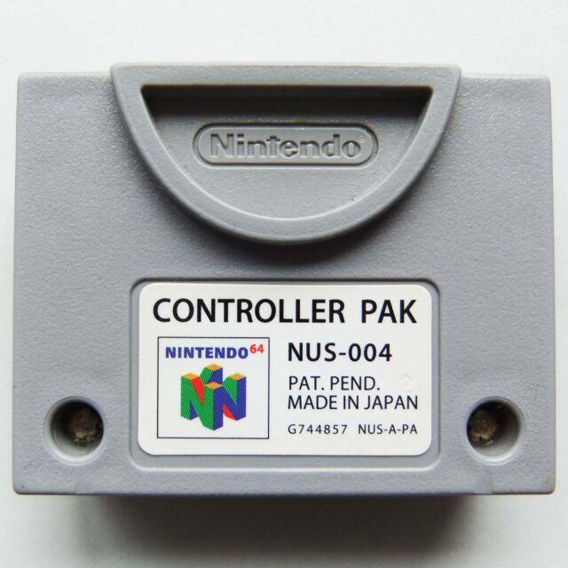 Original Controller Pak für Nintendo 64 (NUS-004 Speicher Memory Pack N64)