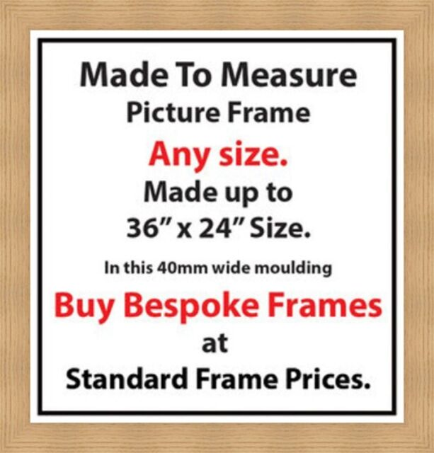 Made To Measure Custom Made Bespoke Picture Frames London 40 Mm Wide