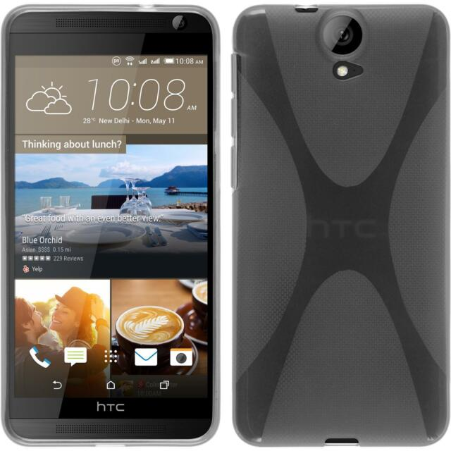 Silicone Case for HTC One E9+ X-Style transparent + protective foils