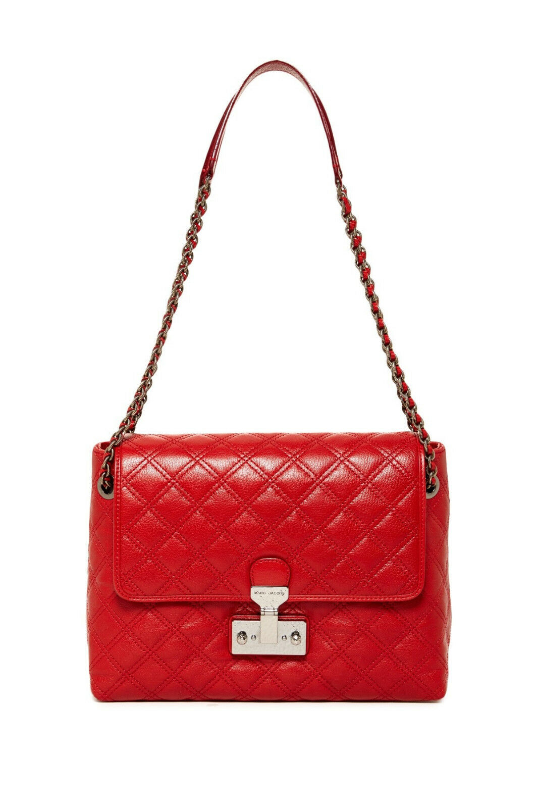 Marc Jacobs Baroque XL Single Quilted Leather Shoulder Bag Cherry ... : marc jacobs single quilted bag - Adamdwight.com