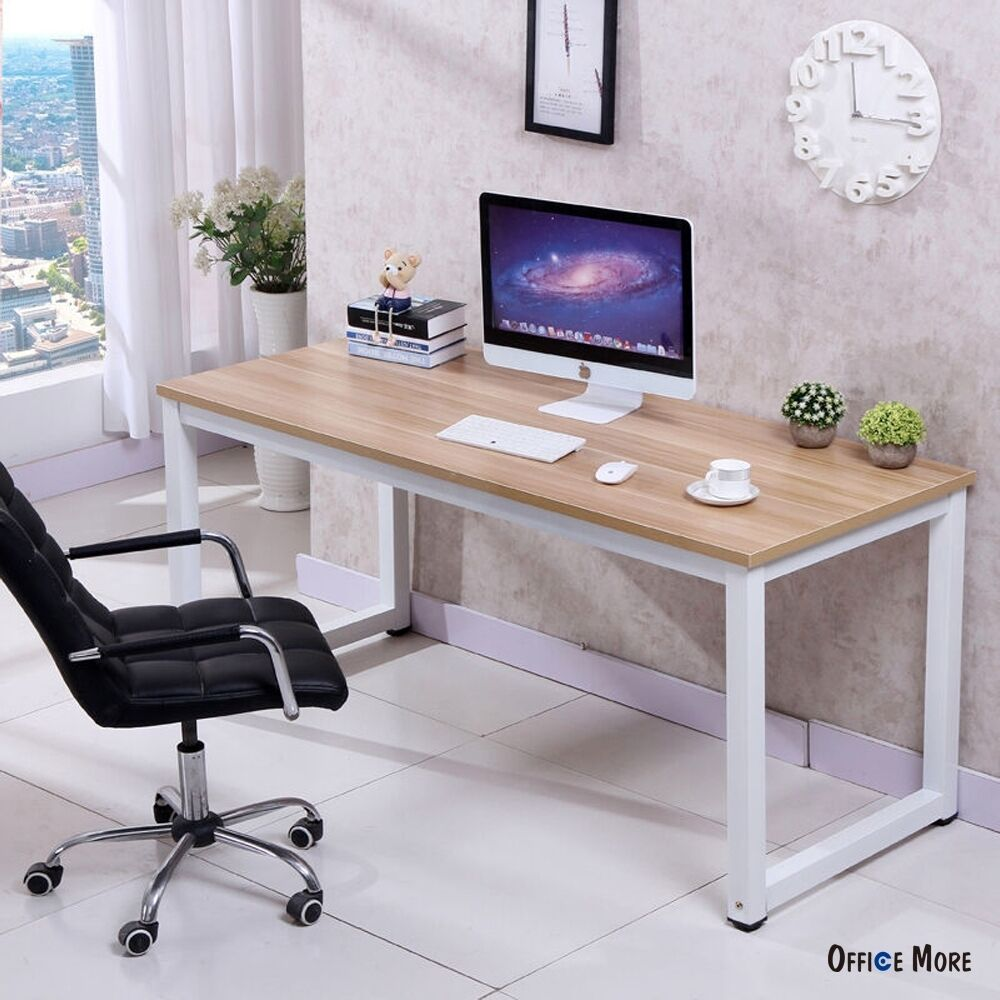 Computer Desk PC Laptop Table Wood Workstation Study Home Office