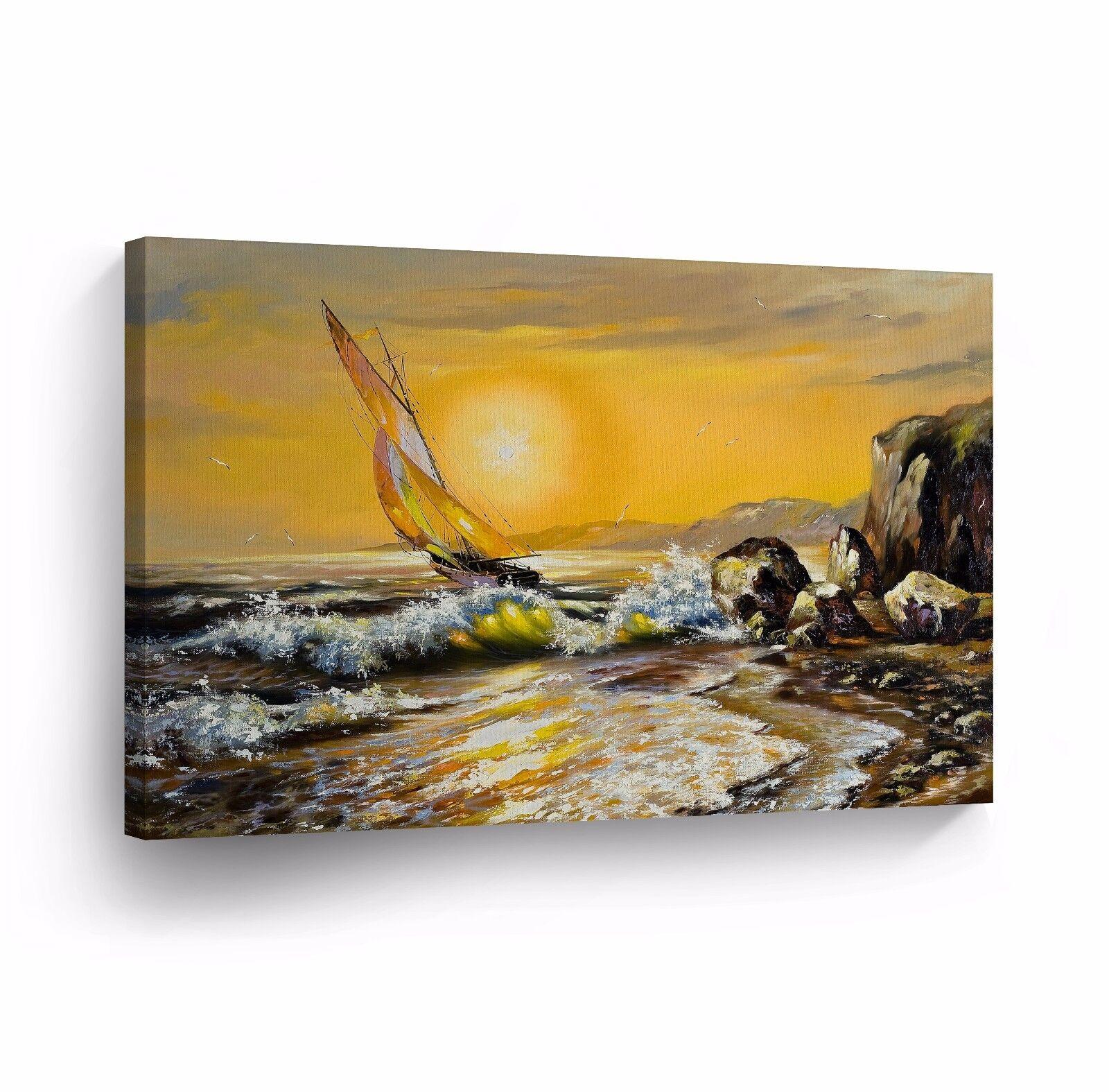 Modern Oil Painting on Canvas Print Wall Decor Art Framed 100 ...