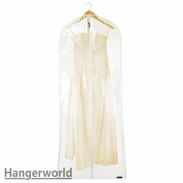 XL Clear Transparent Wedding Dress Cover Prom Ball Gown Garment Bag ...