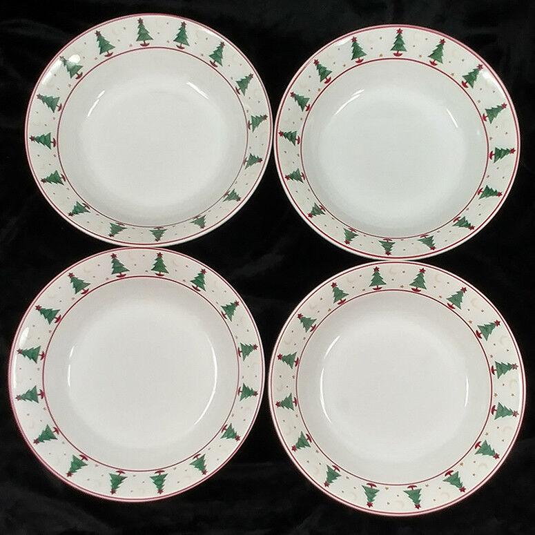 Debbie Mumm Magic of Santa Sakura Christmas Soup Bowls Set of 4 ...