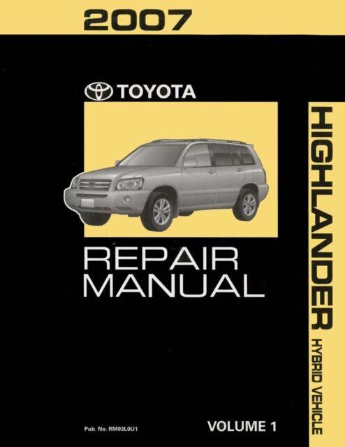 2007 toyota highlander hybrid shop service repair manual volume 1 rh ebay com 2007 toyota highlander repair manual pdf Toyota Highlander Transmission Manual