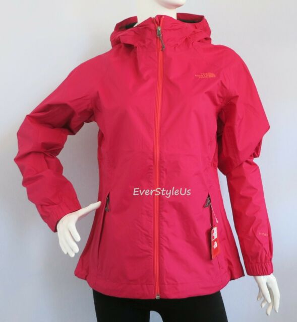The North Face Women's Pare HYVENT Rain Jacket Cerise Pink Size ...