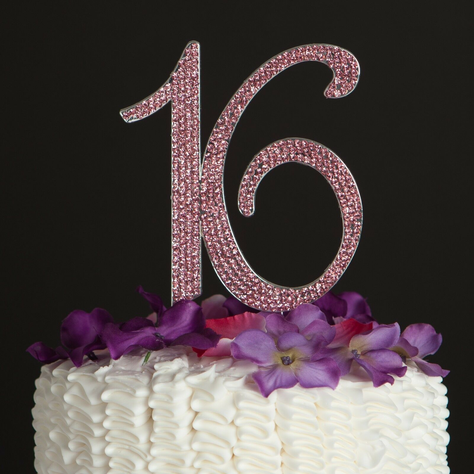 Sweet 16 Cake Topper 16th Birthday Party Decoration Number Sixteen