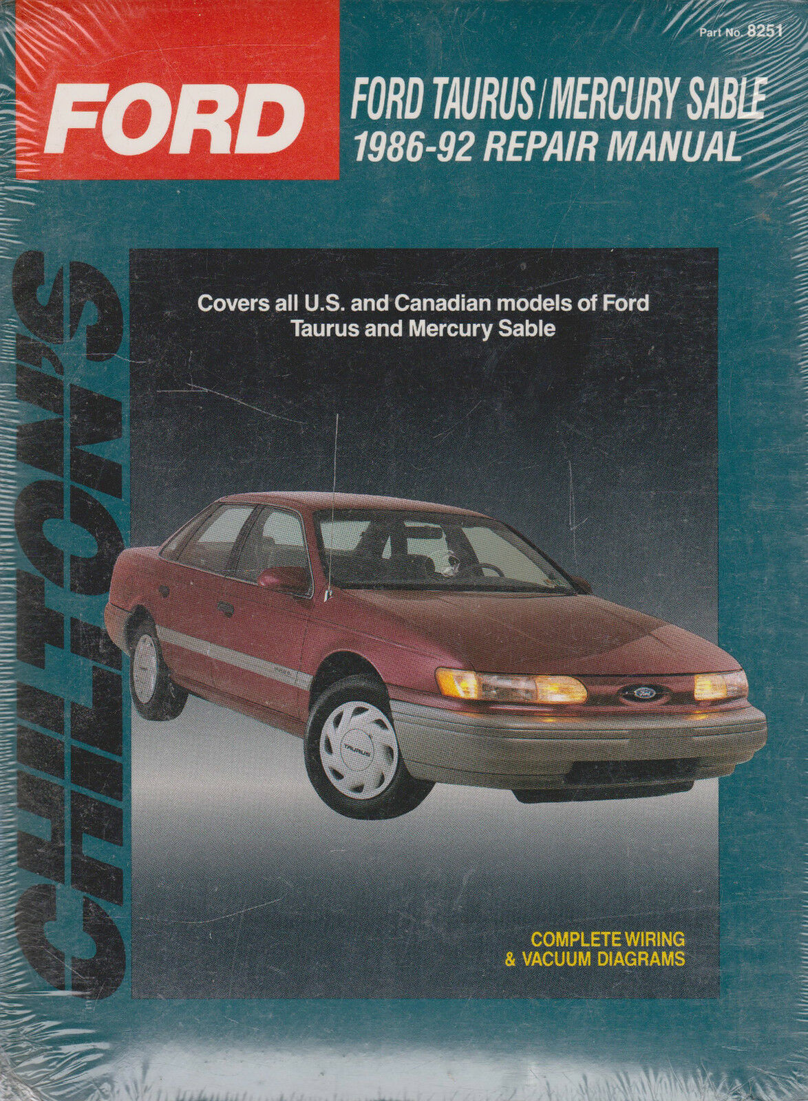 haynes repair manuals ford taurus mercury sable 1986 92 by chilton rh ebay com 2001 Ford Taurus Parts Diagram 2001 Ford Taurus Interior