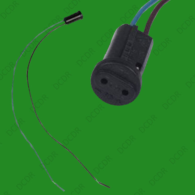 100x G4 Base Black Lamp Holder Socket Cable, Halogen LED Bulb Down Light Fitting