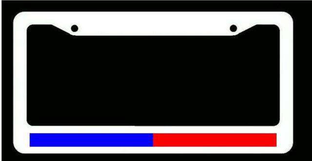 Support Police & Firefighter Blue Red Reflective Line White License ...