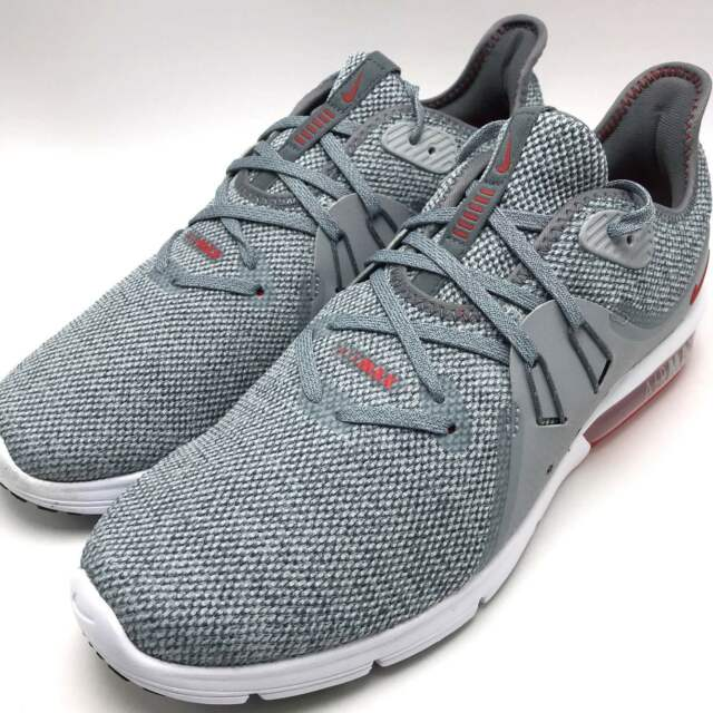online store 29874 d853b Nike Air Max Sequent 3 Men s Running Shoes Cool Grey   University Red 921694 -060