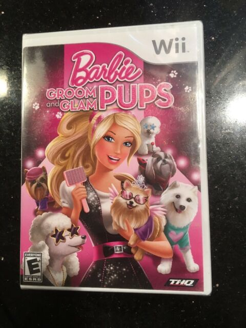 Barbie Groom And Glam Pups - Nintendo Wii Brand New Factory Sealed