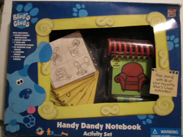 1998 Vtg Blue's Clues Handy Dandy Notebook Steve Red Couch ...