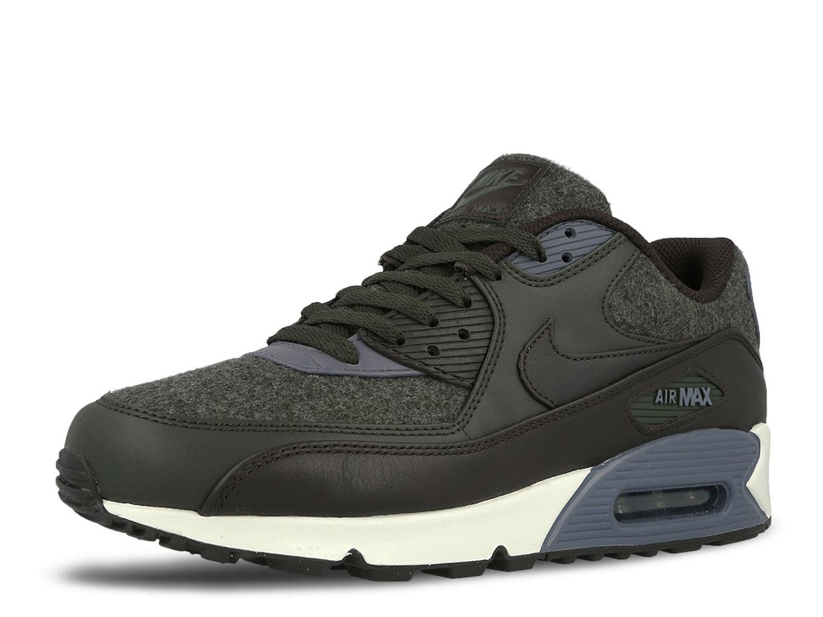Nike Air Max 90 Premium Wool 700155-300 Sequoia Velvet Brown Mens Sz 9.5
