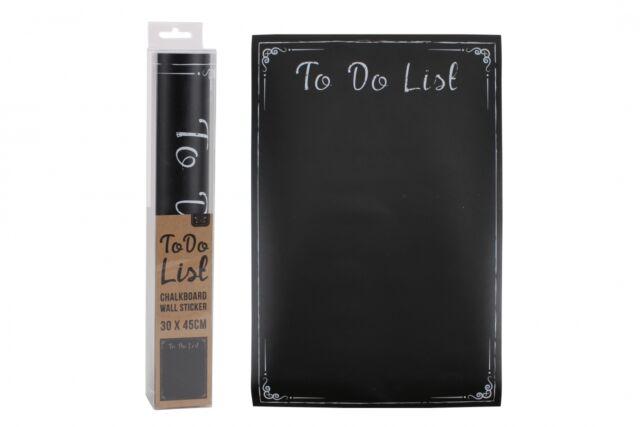 'To Do List' Chalkboard Sticker Chalk Board Blackboard Notice Board Wall Decal