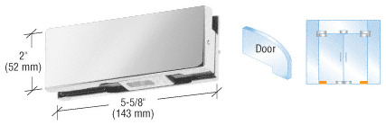 """CRL Polished Stainless Mid-Size Bottom Door Patch Fitting for Use With 3/8"""" ..."""