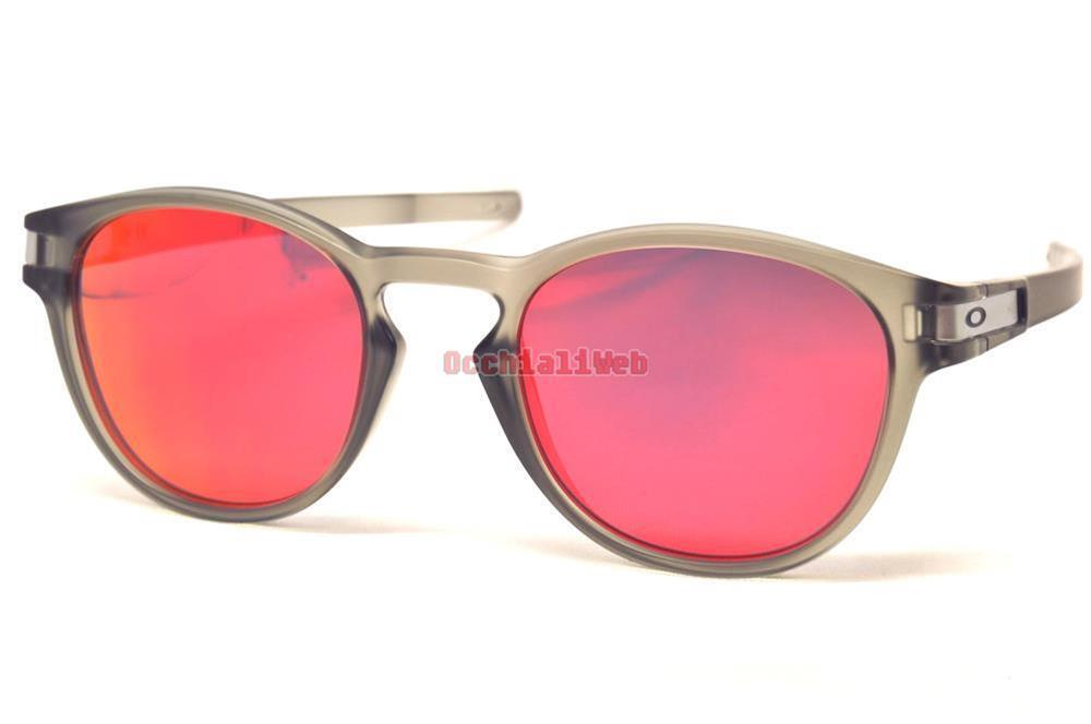559ddc1a5f Oakley Oo9265 9265 15 Matte Grey Ink Frame Ruby Iridium Lens Sunglasses 53