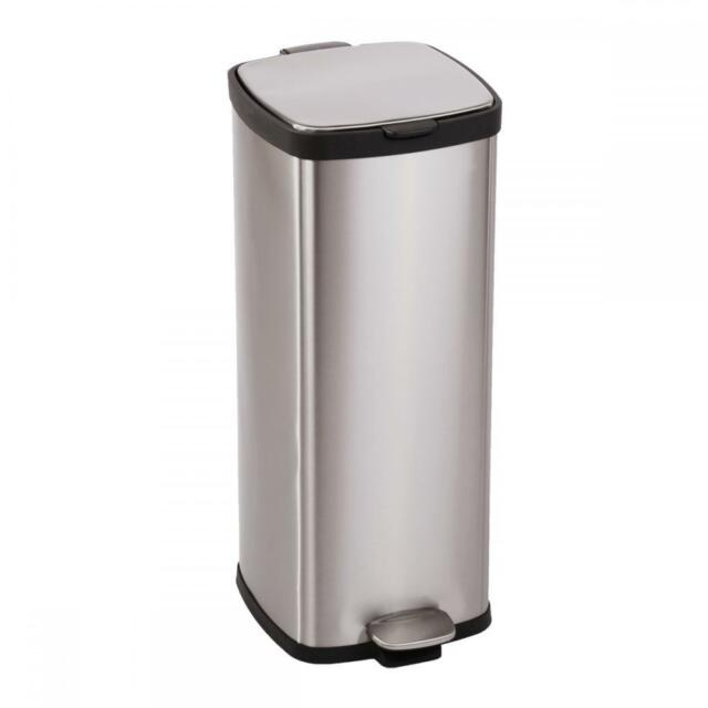 BestOffice 8 Gallon/ 30L Step Stainless Steel Trash Can Kitchen S30T