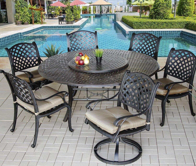 9 piece for 8 cast aluminum nassau outdoor patio dining set with 71 rh ebay com Outdoor Dining Furniture Rustic Outdoor Furniture