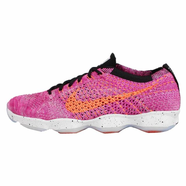 low priced 6192b 3ebbe ... NEW NIKE FLYKNIT ZOOM AGILITY WOMEN S RUNNING TRAINING SHOES PINK  698616 602 ...