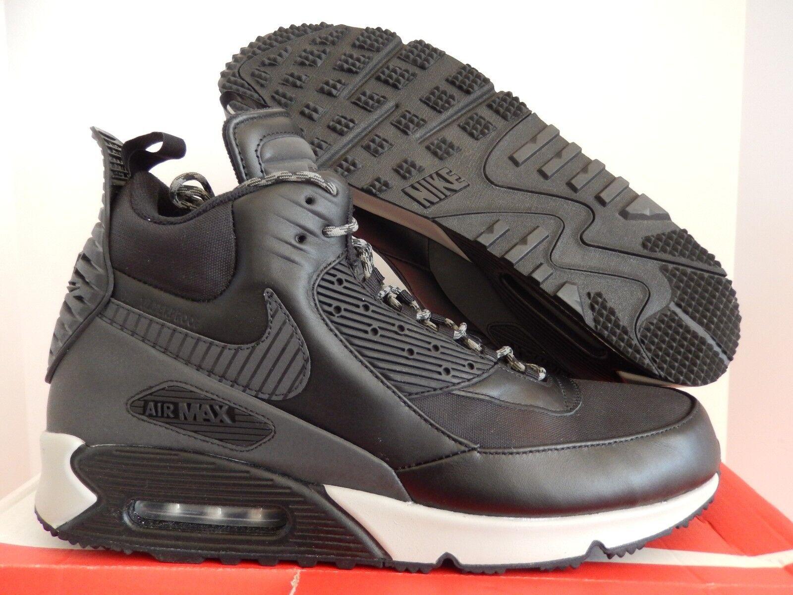 nike air max 90 sneaker boot black/black/magnet grey/black background