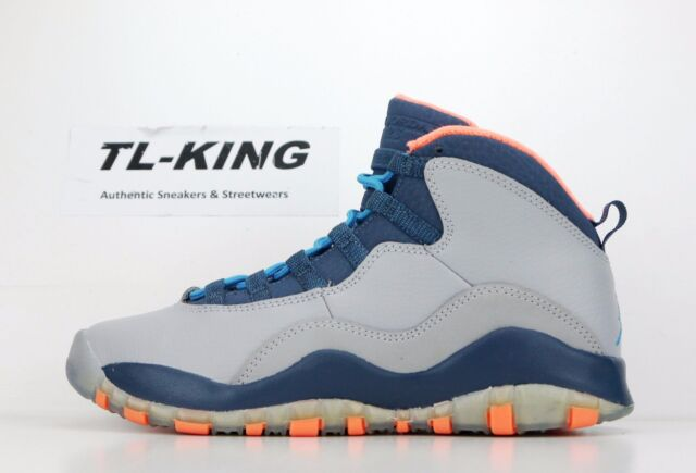 Nike Air Jordan 10 X Retro GG GS Youth Wolf Grey Powder Blue 310806 026 $115