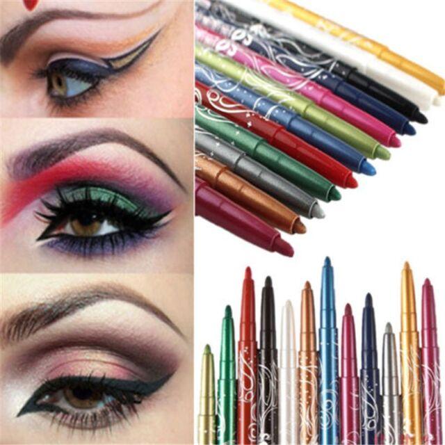 12 Color Style Pro Waterproof Eye Shadow Lip Liner Eyeliner Pen