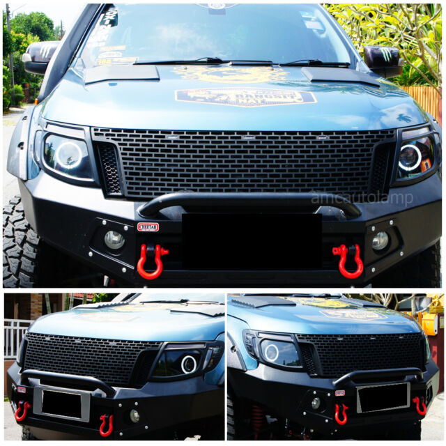 11 15 ford ranger t6 raptor black grille grill xlt px ute. Black Bedroom Furniture Sets. Home Design Ideas