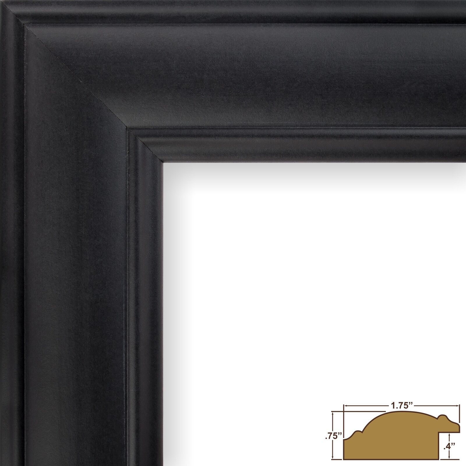Craig frames dakota 175 satin black picture frame 1 single picture 1 of 10 jeuxipadfo Images