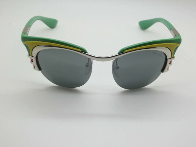 a4356dfd770a denmark prada sunglasses ad2aa 3d7e0; low price authentic new authentic  prada spr 60o hot rod 1bc 7w1 2012 runway green retro