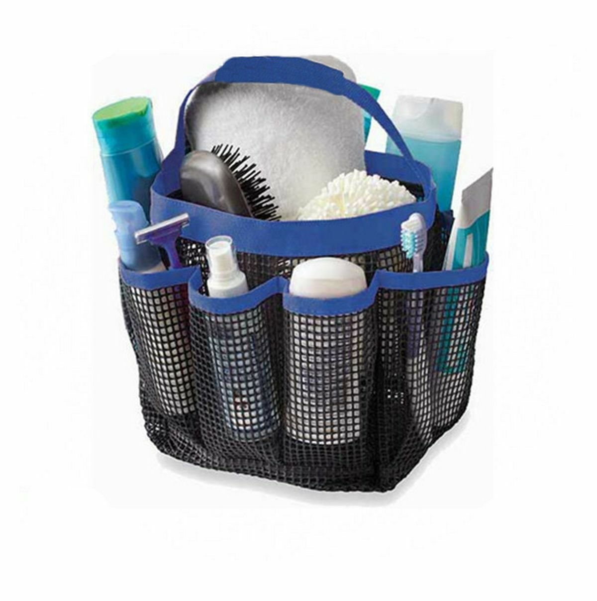 Dearyhome Mesh Shower Caddy Tote 8 Pockets Quick Dry Hanging ...