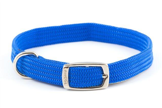 "Ancol Softweave Dog Collar - Blue - 35cm (14"")"