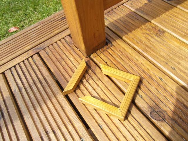 90mm decking trims newel post skirting base finishing deck for Garden decking kits on ebay
