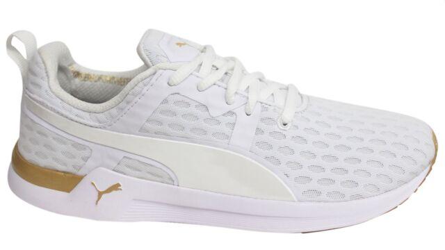 Puma Mostro Unisex Bianco Bianco Tessile Formatori 4 UK