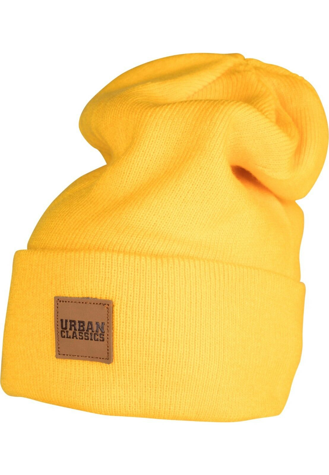 Leatherpatch Long Beanie Hat Urban Classic nNIRUqp