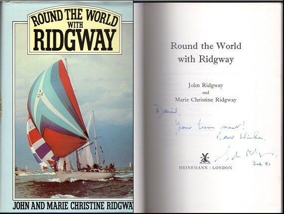 "Signed book: JOHN & MARIE CHRISTINE RIDGWAY - ""ROUND THE WORLD WITH RIDGWAY"""