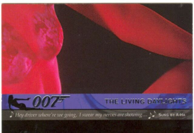 James Bond Quotable Theme Songs Chase Card T3