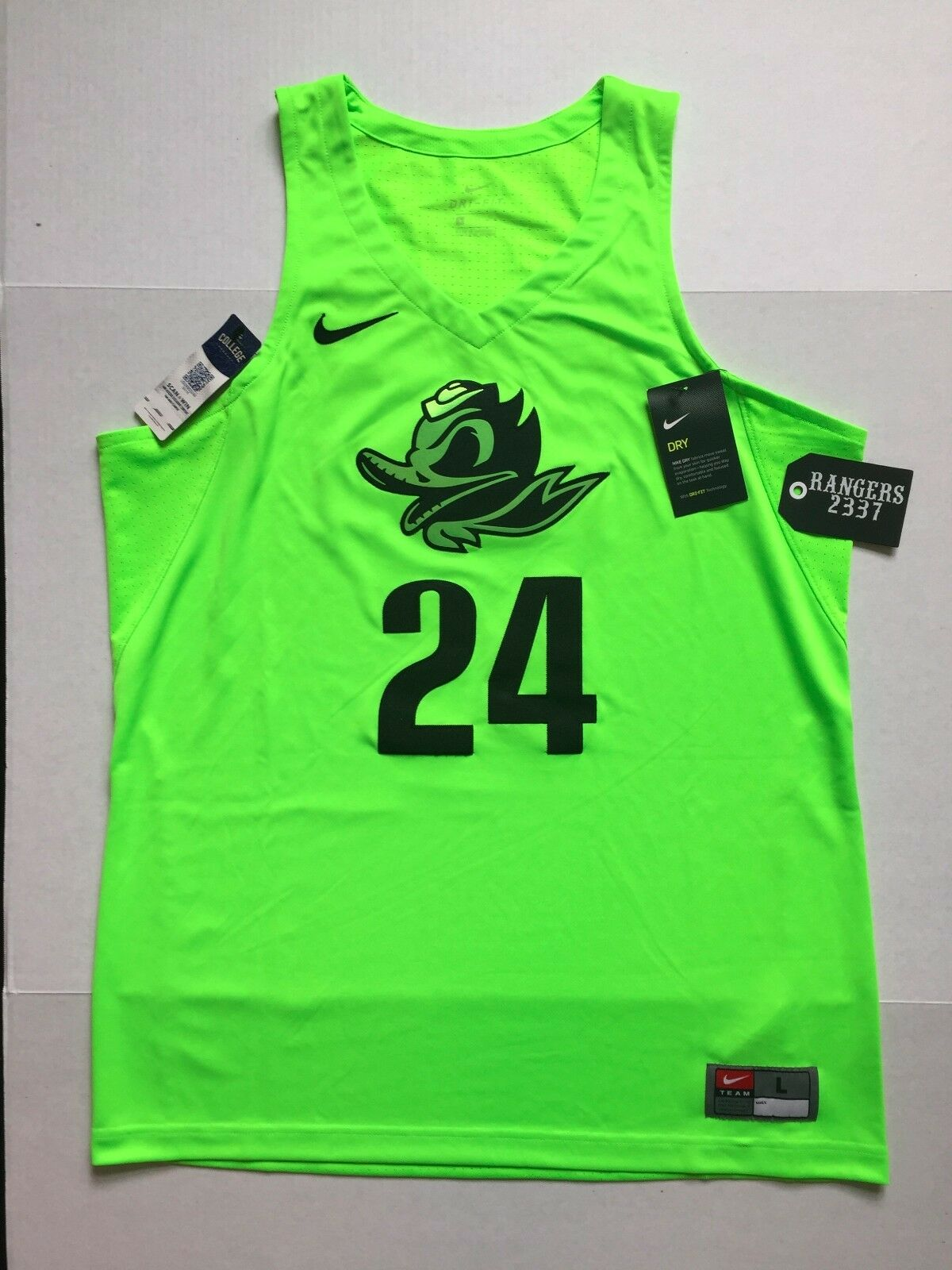 Nike Oregon Ducks Basketball Jersey Stitched 24 Authentic Fighting