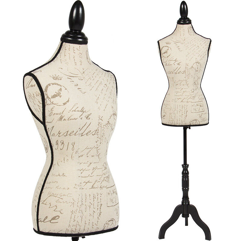 Female Mannequin Torso Dress Form Display W Black Tripod Stand ...