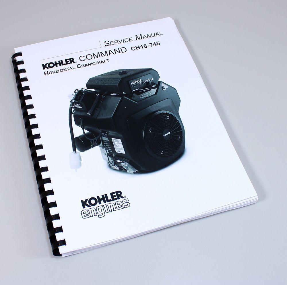 Kohler Command Ch18-745 Horizontal Crankshaft Engine Service Repair ...