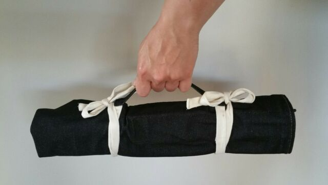 CHEF KNIVES WRAP BAG - JEANS DENIM ROLL 9 pockets