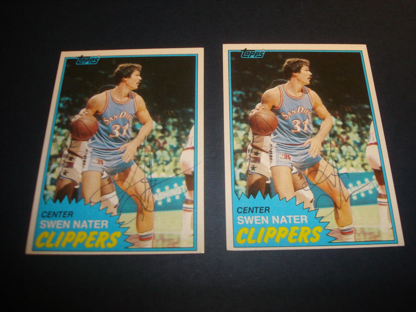 1981 Topps Swen Nater 38 Basketball Card