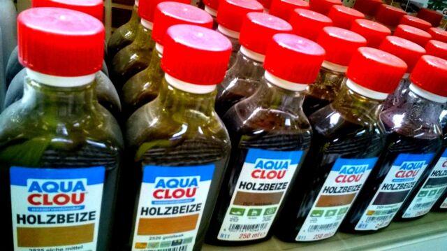 €/l 35,80  Aqua Clou Holzbeize B11 Beize Wasserbeize, 250 ml Neuware!